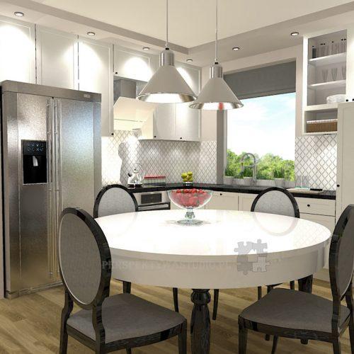 projekt-kuchni-salonu-projektowanie-wnętrz-lublin-perspektywa-studio-kuchnia-klasyczna-angielska-lodówka-side-by-side-salon-meblościanka-jadalnia-Sielsko-angielsko-7