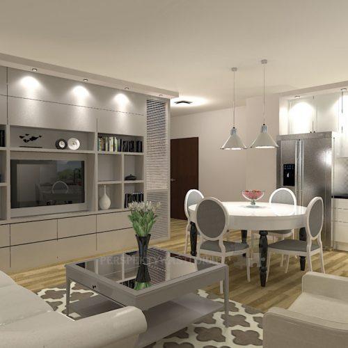projekt-kuchni-salonu-projektowanie-wnętrz-lublin-perspektywa-studio-kuchnia-klasyczna-angielska-lodówka-side-by-side-salon-meblościanka-jadalnia-Sielsko-angielsko-8