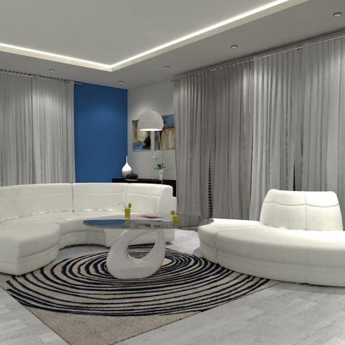 projekt-kuchni-salonu-projektowanie-wnętrz-lublin-perspektywa-studio-kuchnia-minimalistyczna-scandi-białe-fronty-salon-łupek-sarość-błekit-sofy-Meander-1