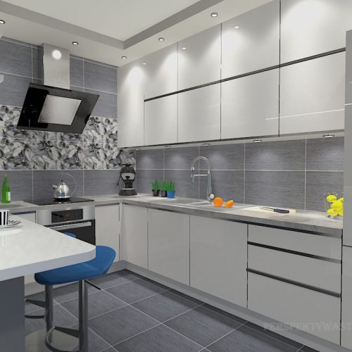 projekt-kuchni-salonu-projektowanie-wnętrz-lublin-perspektywa-studio-kuchnia-minimalistyczna-scandi-białe-fronty-salon-łupek-sarość-błekit-sofy-Meander-2