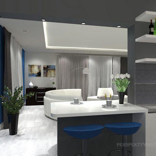 projekt-kuchni-salonu-projektowanie-wnętrz-lublin-perspektywa-studio-kuchnia-minimalistyczna-scandi-białe-fronty-salon-łupek-sarość-błekit-sofy-Meander-7