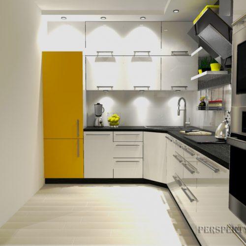 projekt-kuchni-salonu-projektowanie-wnętrz-lublin-perspektywa-studio-kuchnia-nowoczesana-minimalistyczna-zlewozmywak-narożny-salon-biokominek-w-bloku-Black-&-Yellow-2