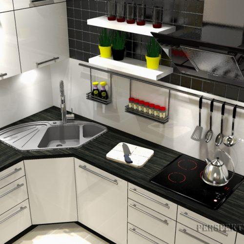 projekt-kuchni-salonu-projektowanie-wnętrz-lublin-perspektywa-studio-kuchnia-nowoczesana-minimalistyczna-zlewozmywak-narożny-salon-biokominek-w-bloku-Black-&-Yellow-3
