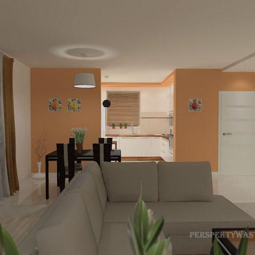 projekt-kuchni-salonu-projektowanie-wnętrz-lublin-perspektywa-studio-kuchnia-nowoczesna-białe-fronty-lakierowane-drewno-piekarnik-w-wysokiej-zabudowie-salon-łupek-kominek-narożny-Tulipan-1