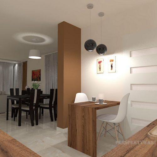 projekt-kuchni-salonu-projektowanie-wnętrz-lublin-perspektywa-studio-kuchnia-nowoczesna-białe-fronty-lakierowane-drewno-piekarnik-w-wysokiej-zabudowie-salon-łupek-kominek-narożny-Tulipan-11