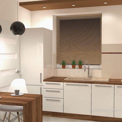projekt-kuchni-salonu-projektowanie-wnętrz-lublin-perspektywa-studio-kuchnia-nowoczesna-białe-fronty-lakierowane-drewno-piekarnik-w-wysokiej-zabudowie-salon-łupek-kominek-narożny-Tulipan-3