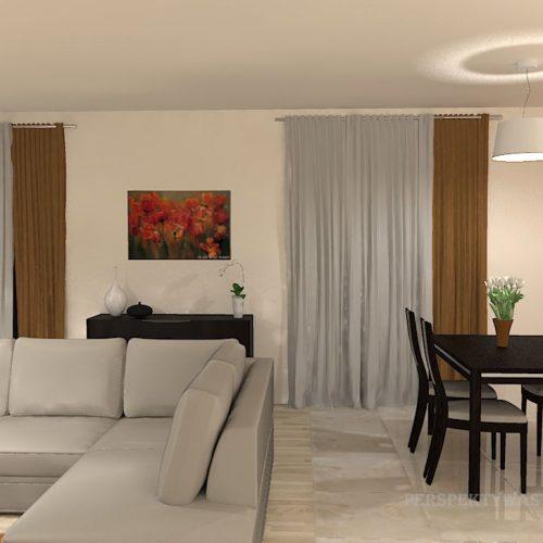 projekt-kuchni-salonu-projektowanie-wnętrz-lublin-perspektywa-studio-kuchnia-nowoczesna-białe-fronty-lakierowane-drewno-piekarnik-w-wysokiej-zabudowie-salon-łupek-kominek-narożny-Tulipan-4