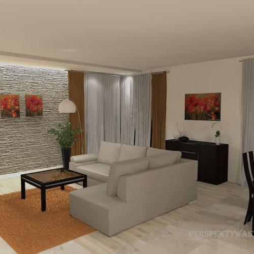 projekt-kuchni-salonu-projektowanie-wnętrz-lublin-perspektywa-studio-kuchnia-nowoczesna-białe-fronty-lakierowane-drewno-piekarnik-w-wysokiej-zabudowie-salon-łupek-kominek-narożny-Tulipan-5
