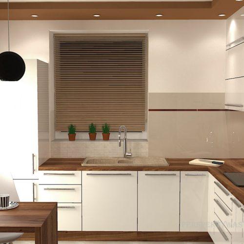 projekt-kuchni-salonu-projektowanie-wnętrz-lublin-perspektywa-studio-kuchnia-nowoczesna-białe-fronty-lakierowane-drewno-piekarnik-w-wysokiej-zabudowie-salon-łupek-kominek-narożny-Tulipan-8