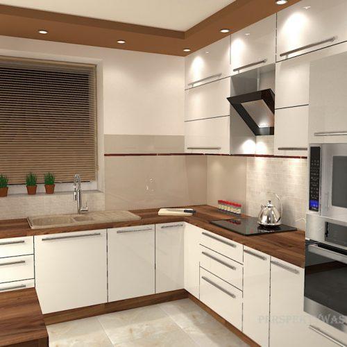 projekt-kuchni-salonu-projektowanie-wnętrz-lublin-perspektywa-studio-kuchnia-nowoczesna-białe-fronty-lakierowane-drewno-piekarnik-w-wysokiej-zabudowie-salon-łupek-kominek-narożny-Tulipan-9