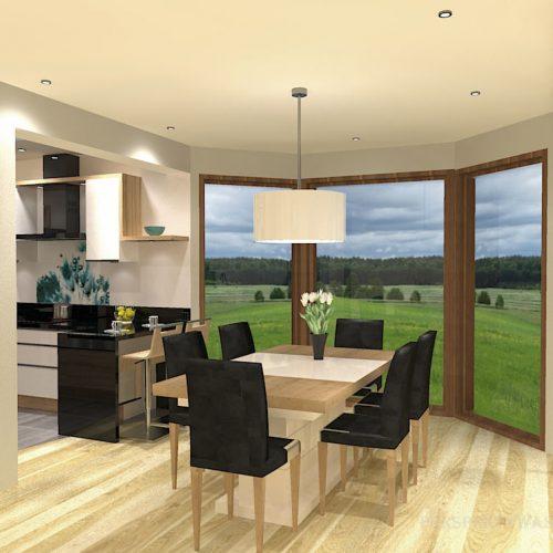projekt-kuchni-salonu-projektowanie-wnętrz-lublin-perspektywa-studio-kuchnia-nowoczesna-białe-lakierowane-fronty-jadalnia-salon-nietypowe-okna-kominek-narożny-Lazurowe-Dmuchawce-11