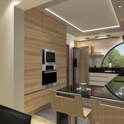 projekt-kuchni-salonu-projektowanie-wnętrz-lublin-perspektywa-studio-kuchnia-nowoczesna-białe-lakierowane-fronty-jadalnia-salon-nietypowe-okna-kominek-narożny-Lazurowe-Dmuchawce-7