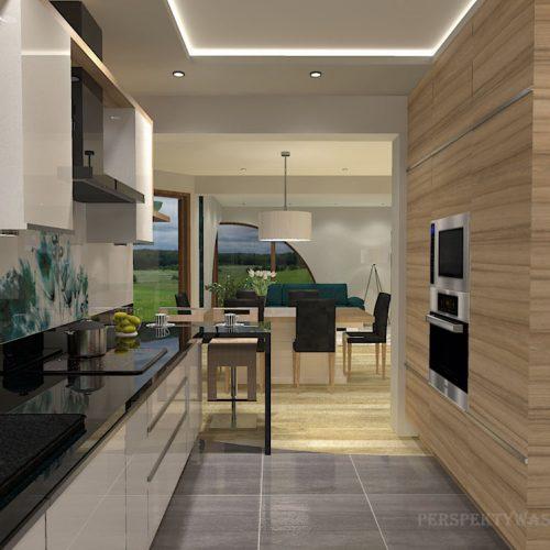 projekt-kuchni-salonu-projektowanie-wnętrz-lublin-perspektywa-studio-kuchnia-nowoczesna-białe-lakierowane-fronty-jadalnia-salon-nietypowe-okna-kominek-narożny-Lazurowe-Dmuchawce-9