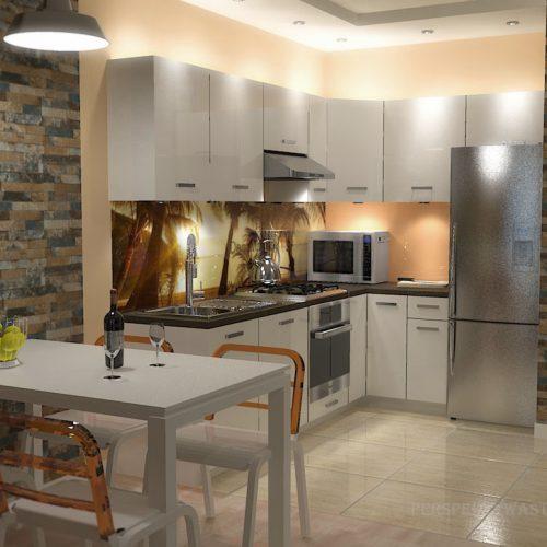 projekt-kuchni-salonu-projektowanie-wnętrz-lublin-perspektywa-studio-kuchnia-nowoczesna-białe-lakierowane-fronty-salon-cegła-sypialnia-kawalerka-Pod-palmami-1