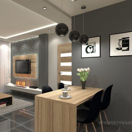 projekt-kuchni-salonu-projektowanie-wnętrz-lublin-perspektywa-studio-kuchnia-nowoczesna-fronty-drewniane-salon-morernizm-grafit-czerń-biokominek-Grafit-i-Cocco-bolo-7