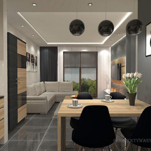projekt-kuchni-salonu-projektowanie-wnętrz-lublin-perspektywa-studio-kuchnia-nowoczesna-fronty-drewniane-salon-morernizm-grafit-czerń-biokominek-Grafit-i-Cocco-bolo-9