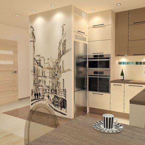 projekt-kuchni-salonu-projektowanie-wnętrz-lublin-perspektywa-studio-kuchnia-nowoczesna-fronty-lakierowane-plus-drewno-salon-fototapeta-Barcelona-4