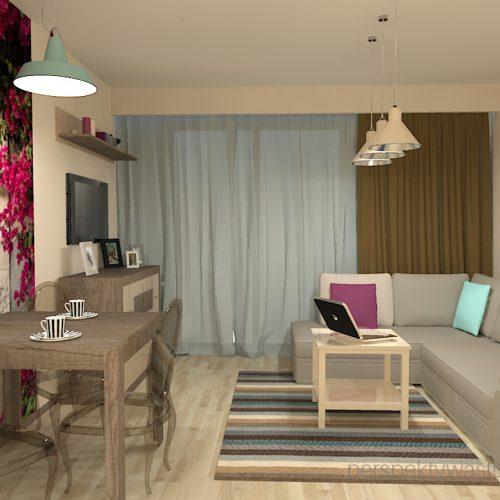 projekt-kuchni-salonu-projektowanie-wnętrz-lublin-perspektywa-studio-kuchnia-nowoczesna-fronty-lakierowane-plus-drewno-salon-fototapeta-Barcelona-7