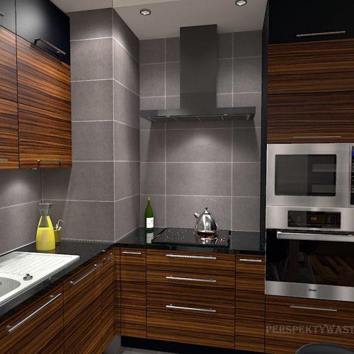 projekt-kuchni-salonu-projektowanie-wnętrz-lublin-perspektywa-studio-kuchnia-nowoczesna-grafit-palisander-piekarnik-w-wysokiej-zabudowie-salon-łupek-Grafit-i-palisander-2