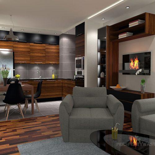 projekt-kuchni-salonu-projektowanie-wnętrz-lublin-perspektywa-studio-kuchnia-nowoczesna-grafit-palisander-piekarnik-w-wysokiej-zabudowie-salon-łupek-Grafit-i-palisander-3