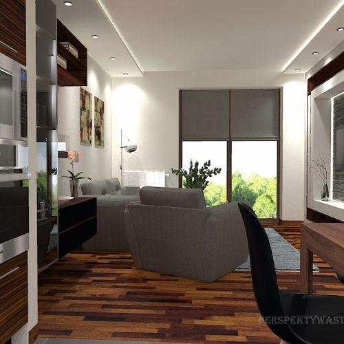 projekt-kuchni-salonu-projektowanie-wnętrz-lublin-perspektywa-studio-kuchnia-nowoczesna-grafit-palisander-piekarnik-w-wysokiej-zabudowie-salon-łupek-Grafit-i-palisander-5