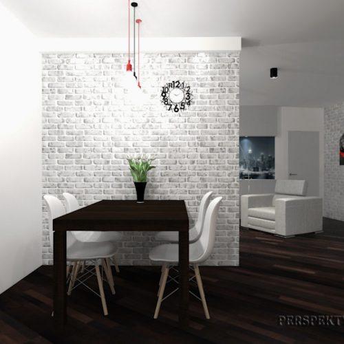projekt-kuchni-salonu-projektowanie-wnętrz-lublin-perspektywa-studio-kuchnia-nowoczesna-lakierowane-fronty-czerwony-lakobel-kawalerka-biała-cegła-Red-Chilli-3