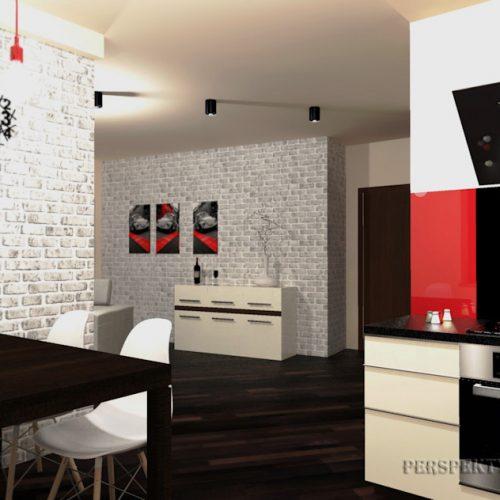 projekt-kuchni-salonu-projektowanie-wnętrz-lublin-perspektywa-studio-kuchnia-nowoczesna-lakierowane-fronty-czerwony-lakobel-kawalerka-biała-cegła-Red-Chilli-6