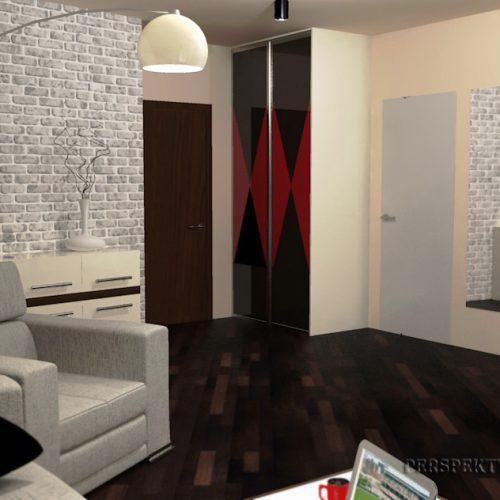 projekt-kuchni-salonu-projektowanie-wnętrz-lublin-perspektywa-studio-kuchnia-nowoczesna-lakierowane-fronty-czerwony-lakobel-kawalerka-biała-cegła-Red-Chilli-7