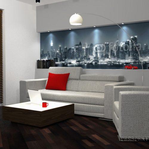 projekt-kuchni-salonu-projektowanie-wnętrz-lublin-perspektywa-studio-kuchnia-nowoczesna-lakierowane-fronty-czerwony-lakobel-kawalerka-biała-cegła-Red-Chilli-8