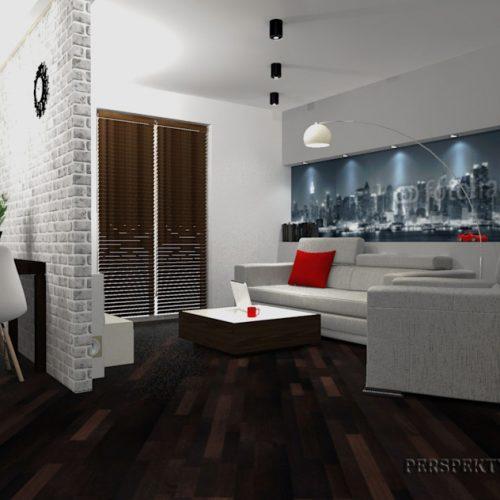 projekt-kuchni-salonu-projektowanie-wnętrz-lublin-perspektywa-studio-kuchnia-nowoczesna-lakierowane-fronty-czerwony-lakobel-kawalerka-biała-cegła-Red-Chilli-9