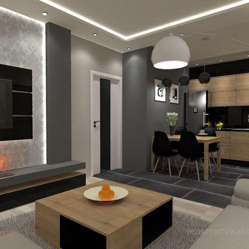 projekt-kuchni-salonu-projektowanie-wnętrz-lublin-perspektywa-studio-kuchnia-nowoczesna-morernistyczna-fronty-drewniane-grafit-salon-biokominek-Grafit-i-dąb-1
