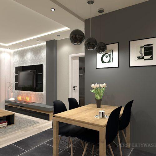 projekt-kuchni-salonu-projektowanie-wnętrz-lublin-perspektywa-studio-kuchnia-nowoczesna-morernistyczna-fronty-drewniane-grafit-salon-biokominek-Grafit-i-dąb-2