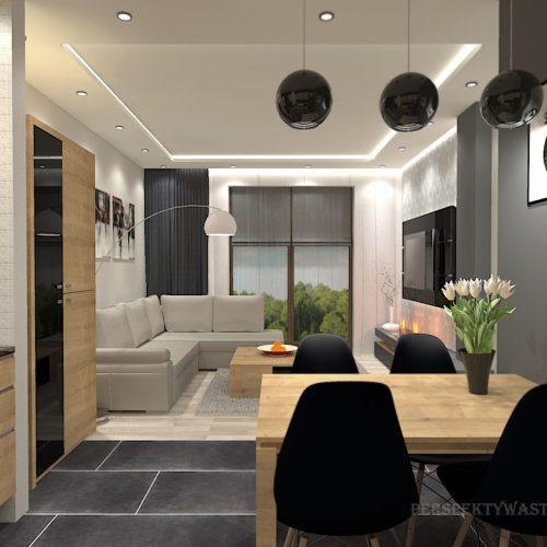 projekt-kuchni-salonu-projektowanie-wnętrz-lublin-perspektywa-studio-kuchnia-nowoczesna-morernistyczna-fronty-drewniane-grafit-salon-biokominek-Grafit-i-dąb-3