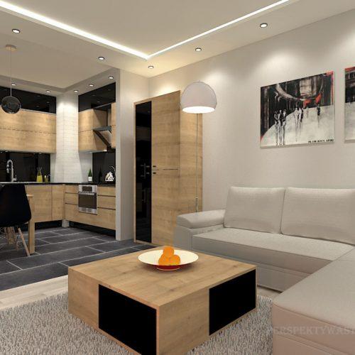 projekt-kuchni-salonu-projektowanie-wnętrz-lublin-perspektywa-studio-kuchnia-nowoczesna-morernistyczna-fronty-drewniane-grafit-salon-biokominek-Grafit-i-dąb-4