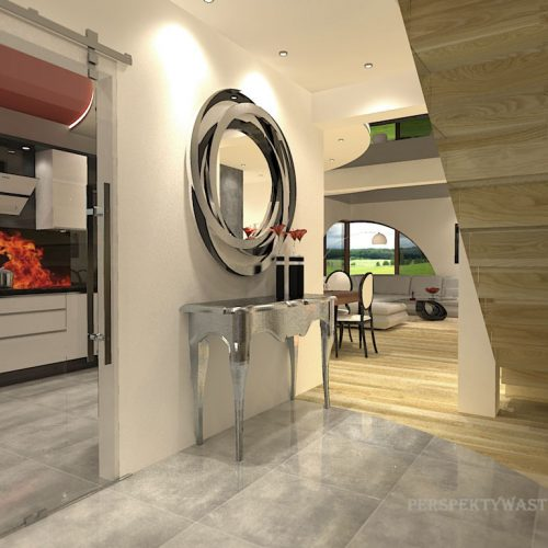 projekt-kuchni-salonu-projektowanie-wnętrz-lublin-perspektywa-studio-kuchnia-nowoczesna-nietypowe-okna-glamour-4