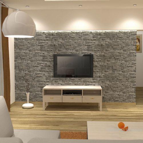 projekt-kuchni-salonu-projektowanie-wnętrz-lublin-perspektywa-studio-kuchnia-nowoczesna-z-barkiem-zabudowa-do-sufitu-salon-łupek-sofa-narożna-Ruda-1-2