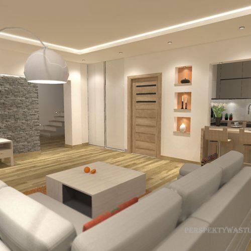projekt-kuchni-salonu-projektowanie-wnętrz-lublin-perspektywa-studio-kuchnia-nowoczesna-z-barkiem-zabudowa-do-sufitu-salon-łupek-sofa-narożna-Ruda-1-3