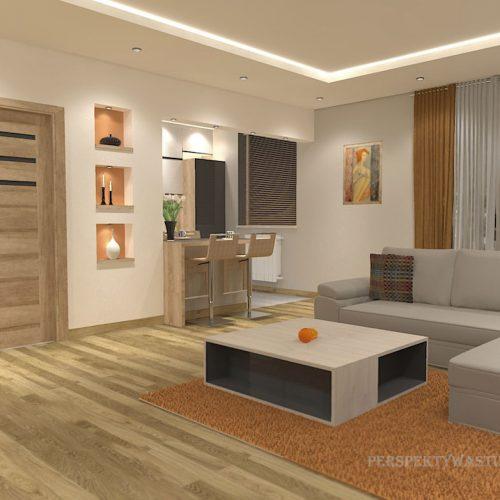 projekt-kuchni-salonu-projektowanie-wnętrz-lublin-perspektywa-studio-kuchnia-nowoczesna-z-barkiem-zabudowa-do-sufitu-salon-łupek-sofa-narożna-Ruda-1-4
