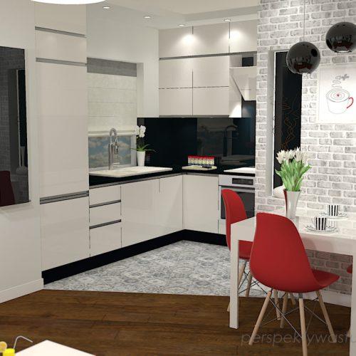 projekt-kuchni-salonu-projektowanie-wnętrz-lublin-perspektywa-studio-kuchnia-nowoczesna-z-biała-cegiełką-białe-meble-salon-skośne-łaczenie-podłóg-patchwork-Kawa-czy-herbata-1