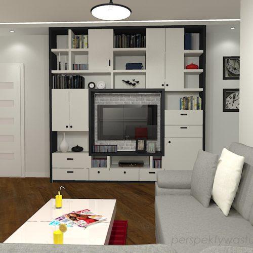projekt-kuchni-salonu-projektowanie-wnętrz-lublin-perspektywa-studio-kuchnia-nowoczesna-z-biała-cegiełką-białe-meble-salon-skośne-łaczenie-podłóg-patchwork-Kawa-czy-herbata-2