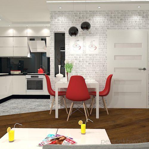 projekt-kuchni-salonu-projektowanie-wnętrz-lublin-perspektywa-studio-kuchnia-nowoczesna-z-biała-cegiełką-białe-meble-salon-skośne-łaczenie-podłóg-patchwork-Kawa-czy-herbata-3