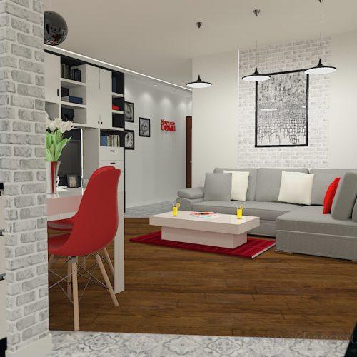 projekt-kuchni-salonu-projektowanie-wnętrz-lublin-perspektywa-studio-kuchnia-nowoczesna-z-biała-cegiełką-białe-meble-salon-skośne-łaczenie-podłóg-patchwork-Kawa-czy-herbata-7