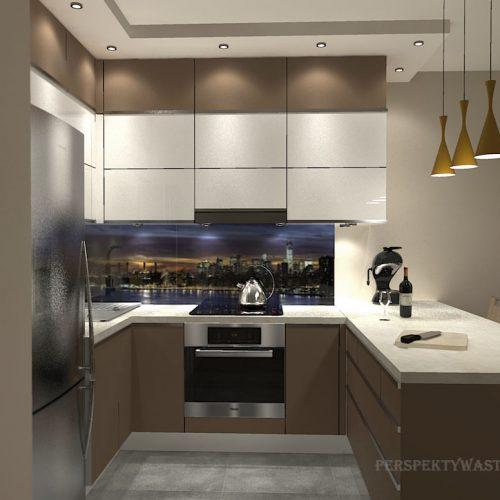 projekt-kuchni-salonu-projektowanie-wnętrz-lublin-perspektywa-studio-kuchnia-nowoczesna-zabudowa-do-sufitu-salon-tapeta-Miodowy-zachód-1