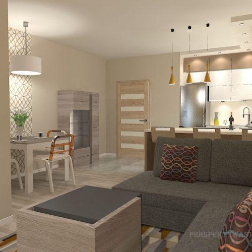 projekt-kuchni-salonu-projektowanie-wnętrz-lublin-perspektywa-studio-kuchnia-nowoczesna-zabudowa-do-sufitu-salon-tapeta-Miodowy-zachód-2