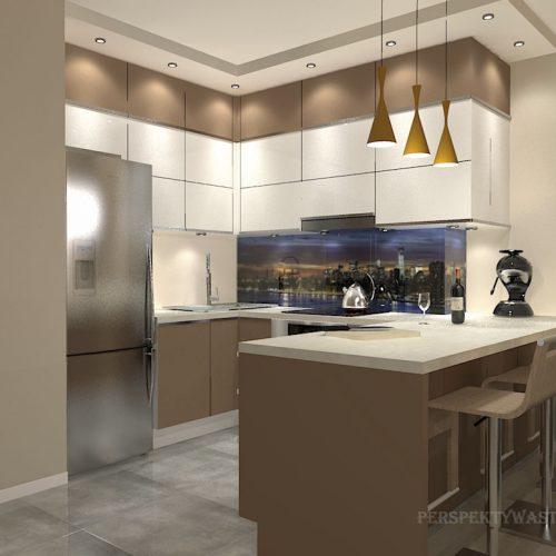 projekt-kuchni-salonu-projektowanie-wnętrz-lublin-perspektywa-studio-kuchnia-nowoczesna-zabudowa-do-sufitu-salon-tapeta-Miodowy-zachód-3