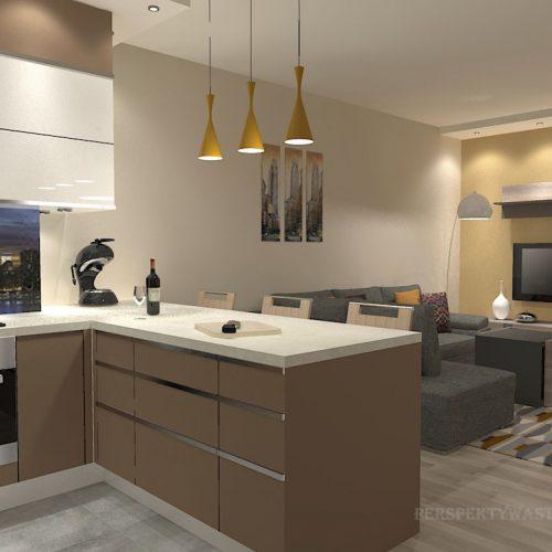 projekt-kuchni-salonu-projektowanie-wnętrz-lublin-perspektywa-studio-kuchnia-nowoczesna-zabudowa-do-sufitu-salon-tapeta-Miodowy-zachód-4