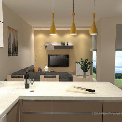 projekt-kuchni-salonu-projektowanie-wnętrz-lublin-perspektywa-studio-kuchnia-nowoczesna-zabudowa-do-sufitu-salon-tapeta-Miodowy-zachód-5