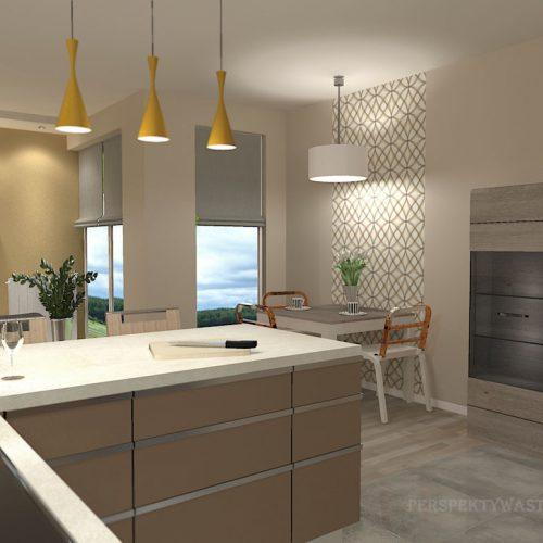 projekt-kuchni-salonu-projektowanie-wnętrz-lublin-perspektywa-studio-kuchnia-nowoczesna-zabudowa-do-sufitu-salon-tapeta-Miodowy-zachód-6
