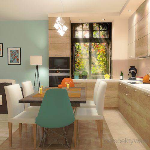 projekt-kuchni-salonu-projektowanie-wnętrz-lublin-perspektywa-studio-kuchnia-styl-nowoczesny-kolor-pomarańczowy-fototapeta-z-oknem-fronty-lakierowne-i-drewno-w-kuchni-Wojna-klonów-1