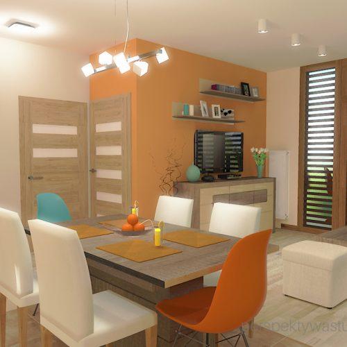 projekt-kuchni-salonu-projektowanie-wnętrz-lublin-perspektywa-studio-kuchnia-styl-nowoczesny-kolor-pomarańczowy-fototapeta-z-oknem-fronty-lakierowne-i-drewno-w-kuchni-Wojna-klonów-2
